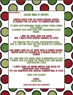 letter from elf to encourage acts of kindness!  Thought of you @Jess Pearl Liu Krallman @Maegan Gudridge Gudridge Wallace @MacKenzie Bramos