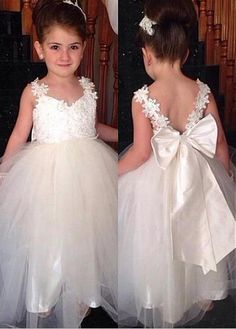 Hot Sale Trendy A-Line Bridesmaid Dresses Princess A-line Ivory Long Flower Girl Dress With Bow Cute Flower Girl Dress, Long Bridesmaid Dresses, Ivory Flower Girl Dress, Bridesmaid Dress, Bridesmaid Dresses A-Line Bridesmaid Dresses 2018 Flower Girl Gown, Cute Flower Girl Dresses, Lace Flower Girls, Flower Petals, Ball Dresses, Ball Gowns, Prom Dresses, Bride Dresses, Long Dresses