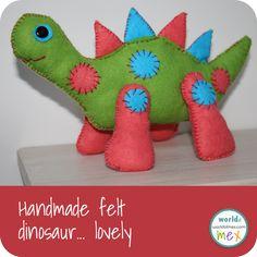 Free Felt Patterns and Tutorials: Free Felt Pattern & Tutorial > Friendly Dinosaur