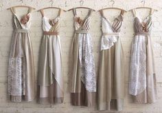 Custom Boho Bridesmaids Dresses in Your Choice of Palette &