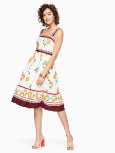 KATE SPADE Orangerie Fit And Flare Dress. #katespade #cloth #all