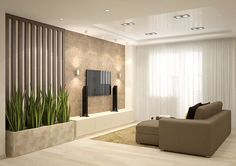 living room design in a contemporary style – Furnishings Ideas Living Room Partition, Room Partition Designs, Glam Living Room, Living Room Decor, Decor Room, Home Decor, Tv Wall Design, House Design, Home Interior Design