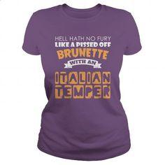 Brunette With An Italian Temper Funny Gift - #shirt designer #white hoodies. I…