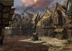 Pin by Noah Glasgow on Top Secret Creative Team Fantasy village Fantasy town Fantasy city