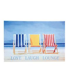 This 'Love Laugh Lounge' Canvas Wall Art by Evergreen is perfect! #zulilyfinds