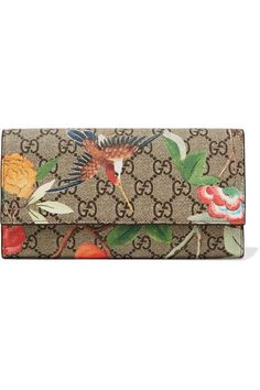 Gucci - Printed Coated-canvas Continental Wallet - Beige - one size