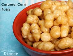 Caramel Corn Puffs {Hands Down, the BEST treat EVER!} Had this for a Bunco snack… Caramel Corn Puffs {Hands Down, the BEST treat EVER!} Had this for a Bunco snack…completely addicting! Bunco Snacks, Yummy Snacks, Yummy Food, Popcorn Recipes, Snack Recipes, Dessert Recipes, Cooking Recipes, Syrup Recipes, Flavored Popcorn