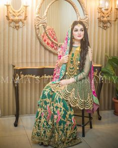 Image may contain: 1 person, standing and indoor Pakistani Mehndi Dress, Bridal Mehndi Dresses, Walima Dress, Pakistani Formal Dresses, Shadi Dresses, Pakistani Wedding Outfits, Bridal Dress Design, Pakistani Wedding Dresses, Pakistani Dress Design