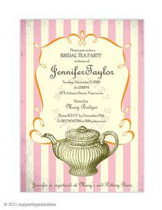 Tea Bridal Shower Invite