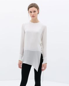 ZARA - NEW THIS WEEK - STUDIO SHIRT WITH SIDE BUCKLES - XS
