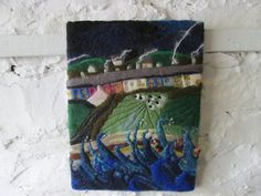 felt art stormy seas by SueForeyfibreart on Etsy, £48.00