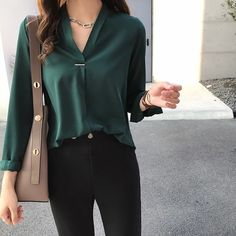 women chiffon blouse shirt long sleeve women shirts fashion tops and blouses - women chiffon blouse shirt long sleeve women shirts fashion tops and b – TopFashionova Source by - Casual Work Outfits, Work Attire, Jean Outfits, Chic Outfits, Office Attire, Smart Casual Work Outfit Women, Business Casual For Women, Business Casual Womens Fashion, Outfit Work