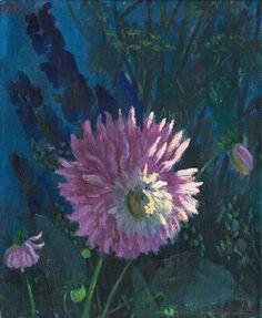 "thunderstruck9: ""Werner Berg (Austrian, 1904-1981), Dahlie im Morgenlicht [Dahlia in morning light], 1936. Oil on canvas, 56 × 45.5 cm. """