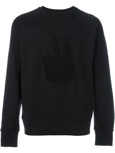 RAG & BONE Textured Peace Sign Sweatshirt. #ragbone #cloth #sweatshirt