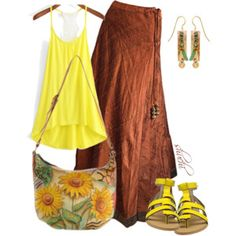 Vintage Skirt - With Minion Yellow