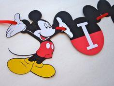 High Chair Banner I AM 1 Mickey Mouse Ears by FeistyFarmersWife