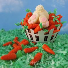 Hungry Happenings: Ravenous Rabbit Cupcakes are sure to delight this Easter. ~ Recipe, & an excellent Picture Tutorial