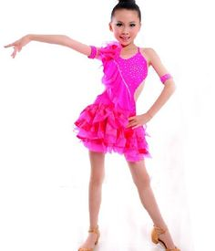 7ff0d5c662f8 US $62.99 |New! kids Latin stage wear 6~15T,fashion child Latin perform  skirt,luxury child Cha Cha dancewear,baby girl Latin dance dress-in Latin  from ...