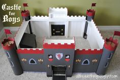 Castle for Boys, won't make it this big and might just end up in cardboard! haha! But love the idea's!!!