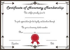 free honorary life membership certificate templates