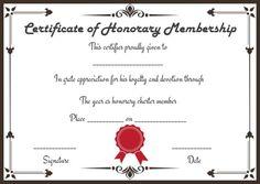Free Honorary Life Membership Certificate Templates  Membership Certificate Templates