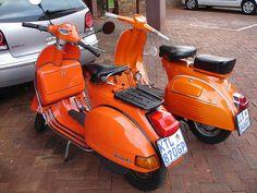 108 Besten Orange Paint Vintage Vespa Scooters Bilder Auf