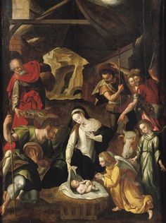 The Adoration of the Shepherds by Cornelis de Baellieur the Elder