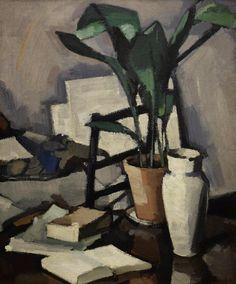 Samuel Peploe (Scotttish, 1871-1935), Aspidistra, c.1927. Oil on canvas, 30 x 25 in.