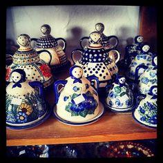Polish pottery shopping Boleslawiec Poland