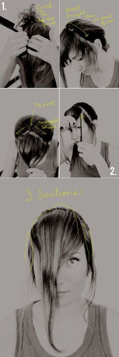 How to Cut Your Own Bangs at Home | AndThenWeSaved.com