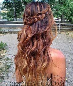 Coiffure pour les Cheveux Longs