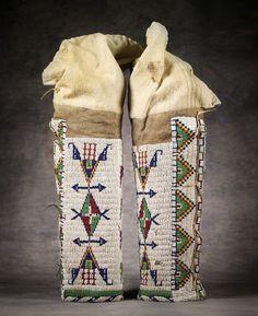 Sioux Beaded Leggings, c 1890