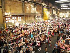 Best flea market in Amsterdam: IJ-hallen at the NDSM-wharf | http://www.yourlittleblackbook.me/ij-hallen-flea-market-amsterdam-north/