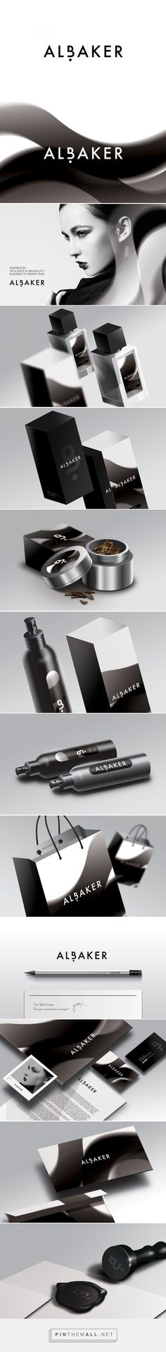 ALBAKER on Behance by Studio AIO curated by Packaging Diva PD. Nice study in black and white packaging.