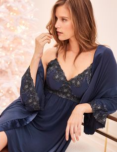 c13f3d7177 It s the season to sparkle with sleep chemise with a a lace bodice on silky  smooth fabric