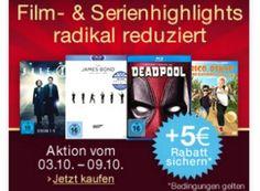 Amazon: Film- und Serien-Highlights mit fünf Euro Sonder-Rabatt bis Sonntag https://www.discountfan.de/artikel/technik_und_haushalt/amazon-film-und-serien-highlights-mit-fuenf-euro-sonder-rabatt-bis-sonntag.php Bei Amazon sind ab sofort und nur eine Woche lang Film- und Serien-Highlights mit einem Sonder-Rabatt von fünf Euro zu haben. Der Preisabschlag gilt ab einem Warenkorbwert von 29 Euro. Amazon: Film- und Serien-Highlights mit fünf Euro Sonder-Rabatt bis Sonntag (Bi