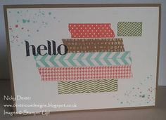 Instant Washi Tape with Tape It from Stampin' Up!