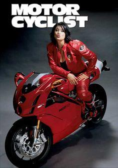 Ducati Girl on my all time favorite Duc 749 Ducati 999, Ducati Motorcycles, Ducati Monster, Lady Biker, Biker Girl, Scooters, Modelos Pin Up, Chicks On Bikes, Motorcycle Posters
