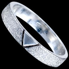 Silver ring, V-shape Silver ring, Ag 925/1000 - sterling silver. A ring satin finish with V-shape design.
