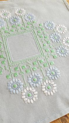 Beautiful retro embroidered floral tablecloth in light blue Etsy Hardanger Embroidery, Embroidery Fabric, Vintage Embroidery, Embroidery Stitches, Embroidery Designs, Floral Tablecloth, Graphic Design Pattern, Drawn Thread, Cloth Flowers