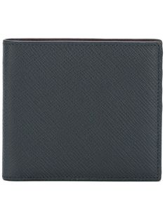 Navy blue leather portfolio wallet from Smythson featuring a rectangular body, a textured leather detail, multiple interior card slots and a billfold compartment. Leather Portfolio, Smythson, World Of Fashion, Luxury Branding, Navy Blue, Wallet, Detail, Interior, Products