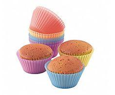 Set de 12 moldes de silicona para cupcakes
