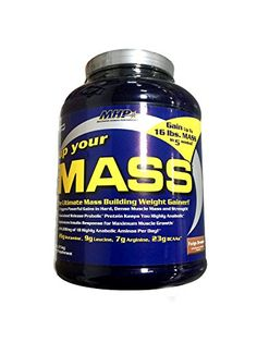 MHP brings the most advanced mass packing technology to your nutrition program with Up Your MASS. The result of over 10 years of research and development Up Your MASS is so powerful it can pack 16 l...