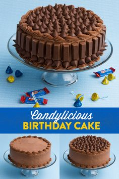 Candylicious Birthday Cake —Birthday cake is fantastic. Your kid's birthday cake decorated with HERSHEY'S Birthday candy? That's HERSHEY-tastic! Just take your birthday cake and an assortment of HERSHEY'S Birthday KISSES and KIT KAT®, and decorate to your heart's content. Use additional icing to help the candy stick where needed. Your cake will never be the same! Let's make your child's party the sweetest celebration ever, with HERSHEY'S Birthday candy. Let's Birthday!