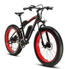 Cyrusher Fat Tire Bike Snow Bike Mountain Bike with Motor Lithium Battery Extrbici Shimano 7 Speeds System inch Fat Tire Suspension Fork Dual Disc Brakes New Adjustable Handlebar Electric Mountain Bike, Mountain Bicycle, Mountain Biking, Best Electric Bikes, Electric Bicycle, Electric Scooter, Fat Bike, Le Mans, Mtb