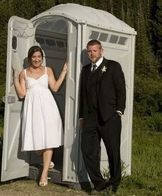 a porta potty? does this bode well for their future together?