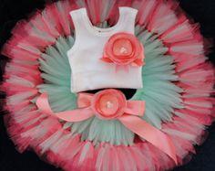 Baby Girls Birthday Tutu Dress Outfit Pink by StrawberrieRose