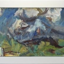 Toss Woolaston - Egmont With Summer Clouds, c. Jake And Dinos Chapman, Clouds, Gallery, Artist, Summer, Painting, Summer Time, Roof Rack, Artists