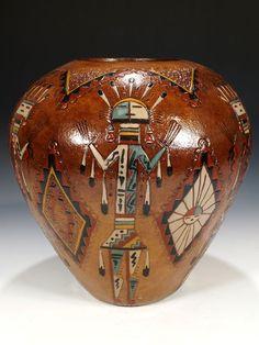 Fine Native American Indian Pueblo Pottery from Hopi, Navajo, Zuni . Native American Baskets, Native American Artwork, Native American Symbols, Native American Design, Native American Crafts, Native American Pottery, Native American Artifacts, American Indian Art, Native American History