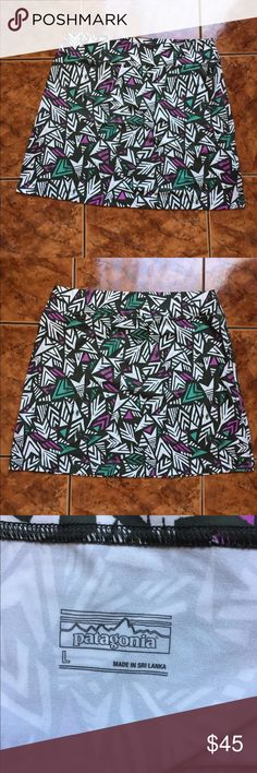 "[Patagonia] Aztec Print Short Skirt Size Large Length:18""  Waist:17""(laying flat)  Check out my other items! Patagonia Skirts Mini"